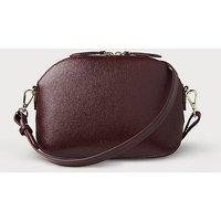 Candice Oxblood Leather Shoulder Bag, Oxblood