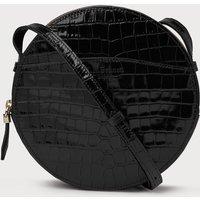 Luna Black Croc Effect Shoulder Bag