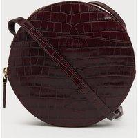 Luna Wine Croc Effect Shoulder Bag