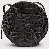 Luna Grey Croc Effect Shoulder Bag, Grey