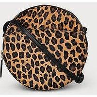 Luna Leopard Print Calf Hair Shoulder Bag, Leopard print