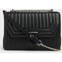 Maeve Black Leather Shoulder Bag, Black