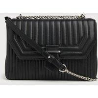 Maeve Black Leather Shoulder Bag