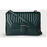 Maeve Green Leather Shoulder Bag, Ivy