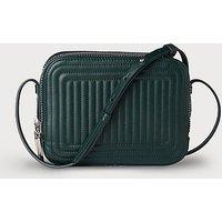 Mariel Green Leather Shoulder Bag, Ivy