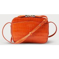 Mariel Tangerine Croc Effect Shoulder Bag, Tangerine