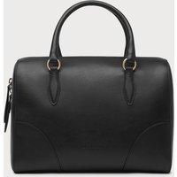 Melanie Black Leather Shoulder Bag