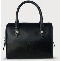 Melanie Blue Black Leather Shoulder Bag, Blue Black