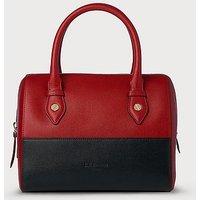 Melanie Red Blue Leather Shoulder Bag, Red Blue