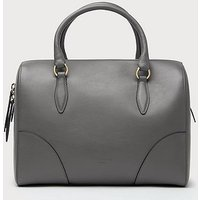 Melanie Grey Leather Shoulder Bag, Smoke