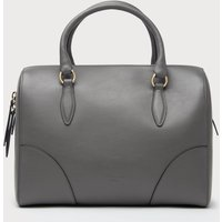 Melanie Grey Leather Shoulder Bag