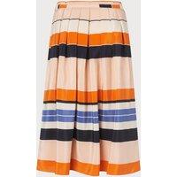 Caitlyn Orange Silk Skirt