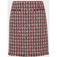 Danna Red Tweed Skirt