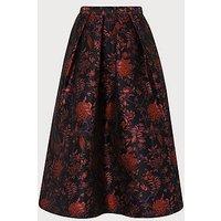 Delysia Floral Skirt, Black Multi