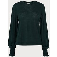 Essia Green Jersey Top, Forest