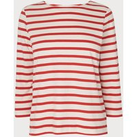 Trin Red White Cotton Jersey Top