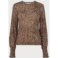 Vicky Leopard Print Jersey Top, Leopard print
