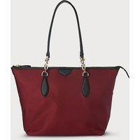 Brooke Wine Tote Bag, Black Raspberry