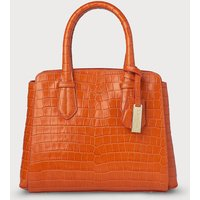 Cassandra Orange Animal Print Tote Bag