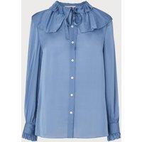 Ariella Blue Silk Blouse