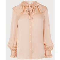 Ariella Pink Silk Blouse, Soft Peach