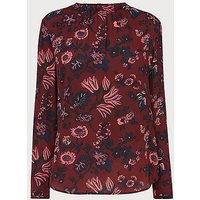 Julisa Red Silk Blouse, Red Multi