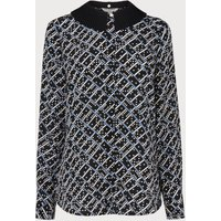 Lotte Blue Black Silk Blouse