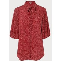 Tillila Red Silk Blouse, Red