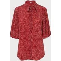 Tillila Red Silk Blouse