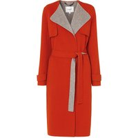 Clemence Red Wool Cashmere Coat