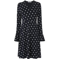 Aman Black Cream Cotton Dress
