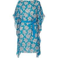 Cimone Blue White Silk Dress