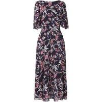 Delina Blue Pink Silk Dress