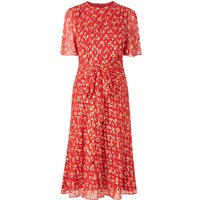 Eve Cranberry Silk Dress