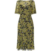 Holli Blue Yellow Silk Dress
