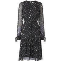 Perl Black White Dress