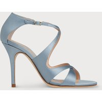 Brielle Blue Satin Sandals