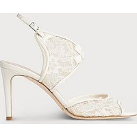 Cecilia Ivory Lace Nappa Sandals, Ivory