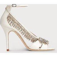 Dahlia Ivory Crystals Sandals, Ivory