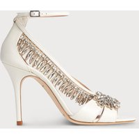 Dahlia Ivory Crystals Sandals