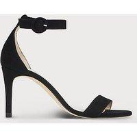 Dora Suede Sandals, Black