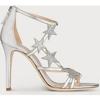 Felicity Silver Leather Sandals, Silver