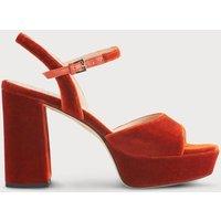 Henie Red Velvet Sandals
