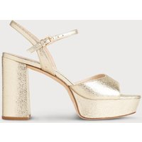 Henie Gold Leather Sandals