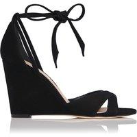Henrietta Black Suede Sandals