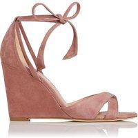 Henrietta Dark Pink Suede Sandals