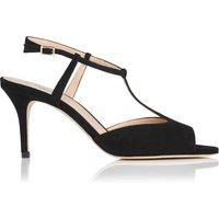 Quinn Black Suede Sandals