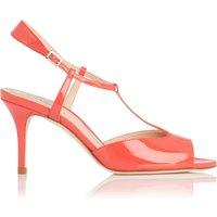 Quinn Geranium Patent Sandals