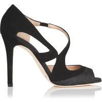 Valentina Black Suede Sandals