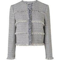 Josie Cream Navy Cotton Jacket